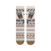 Stance The Dude Tan Socks Large