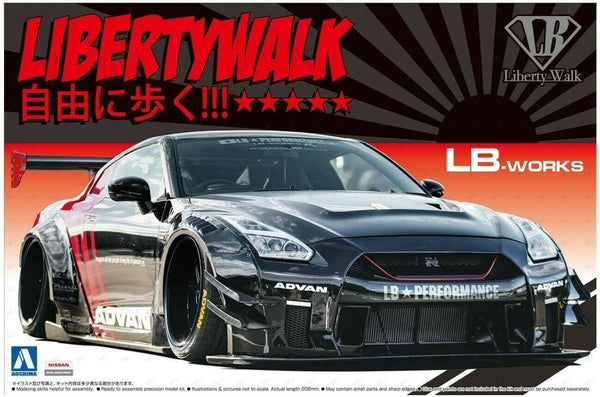 Aoshima LB Works R35 GT-R Type 2 Ver. 2 1/24 Scale Model