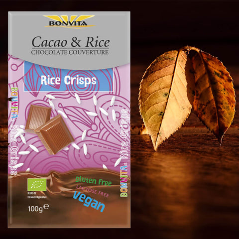 Bonvita Cacao & Rice Chocolate Couverture Classic Original 100g