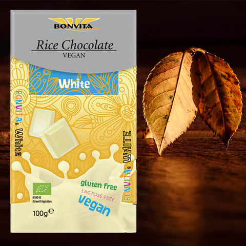 Bonvita Rice Chocolate Vegan White 100g