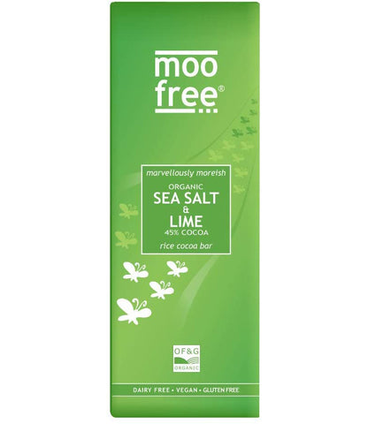 Moo Free Sea Salt & Lime Organic Vegan Gluten Free Premium Chocolate 80g
