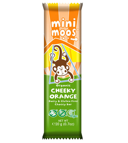 Moo Free Mini Moos Organic Cheeky Orange Bar