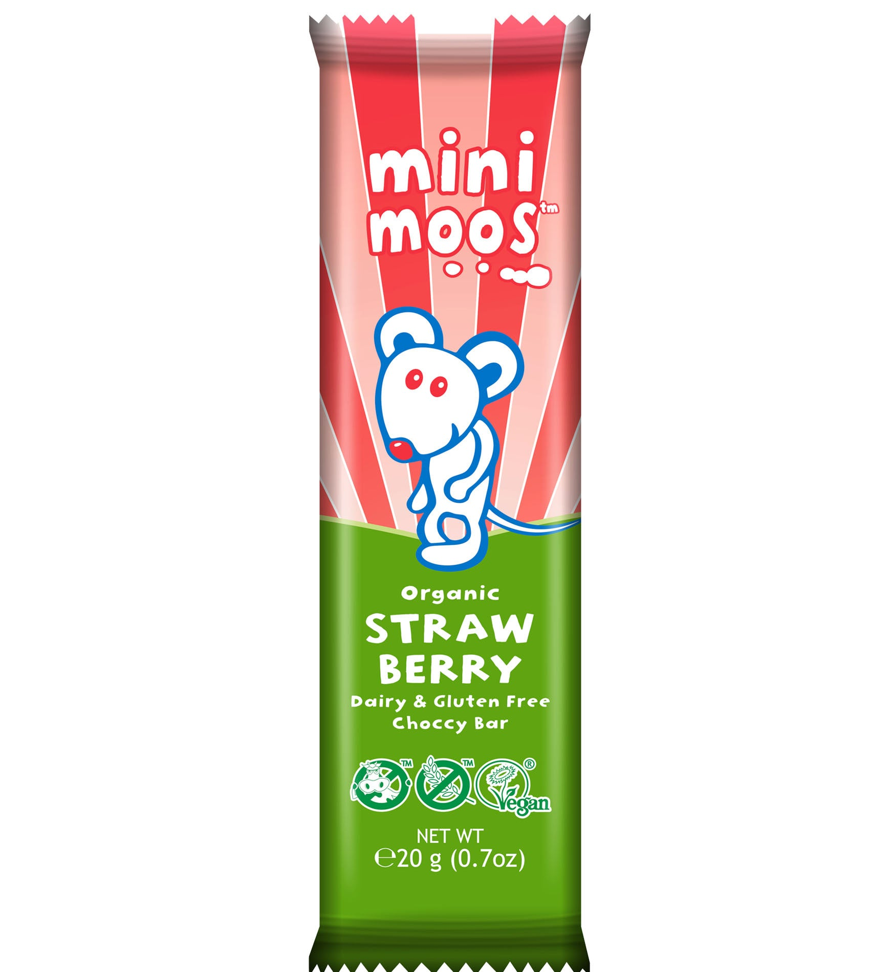 Moo Free Mini Moos Organic Strawberry Bar