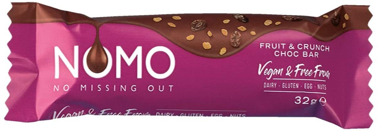 NOMO FRUIT & CRUNCH CHOCOLATE BAR 32G