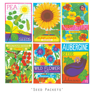 Seed Packets - Postcard Pack