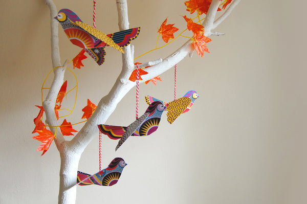 Little Birds - DIY Paper Decorations Pack