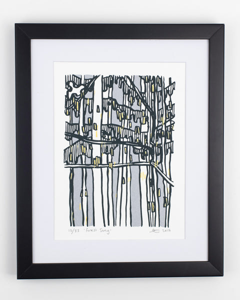 Forest Song - A4 Screen Print