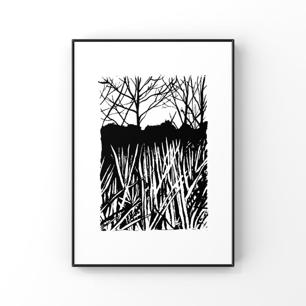 In The River - Screen Print 56 x 76cm