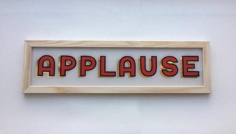 Applause - Handpainted Sign