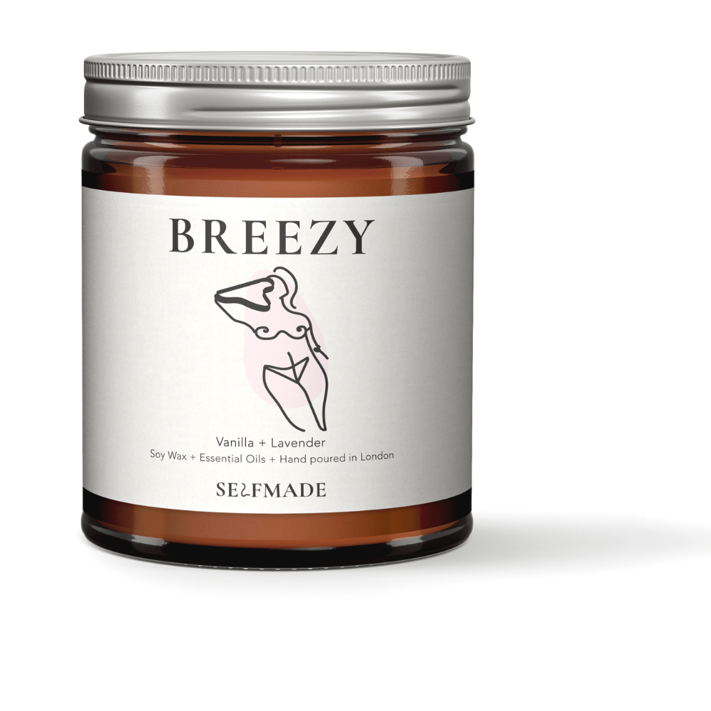 BREEZY Soy Wax Scented Candle - Vanilla and Lavender