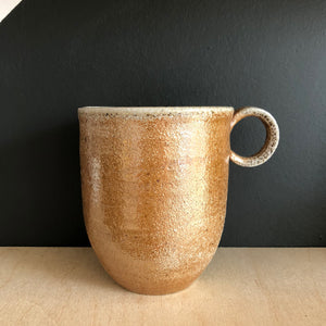Brown Wood-Fired Stoneware Mug - Large