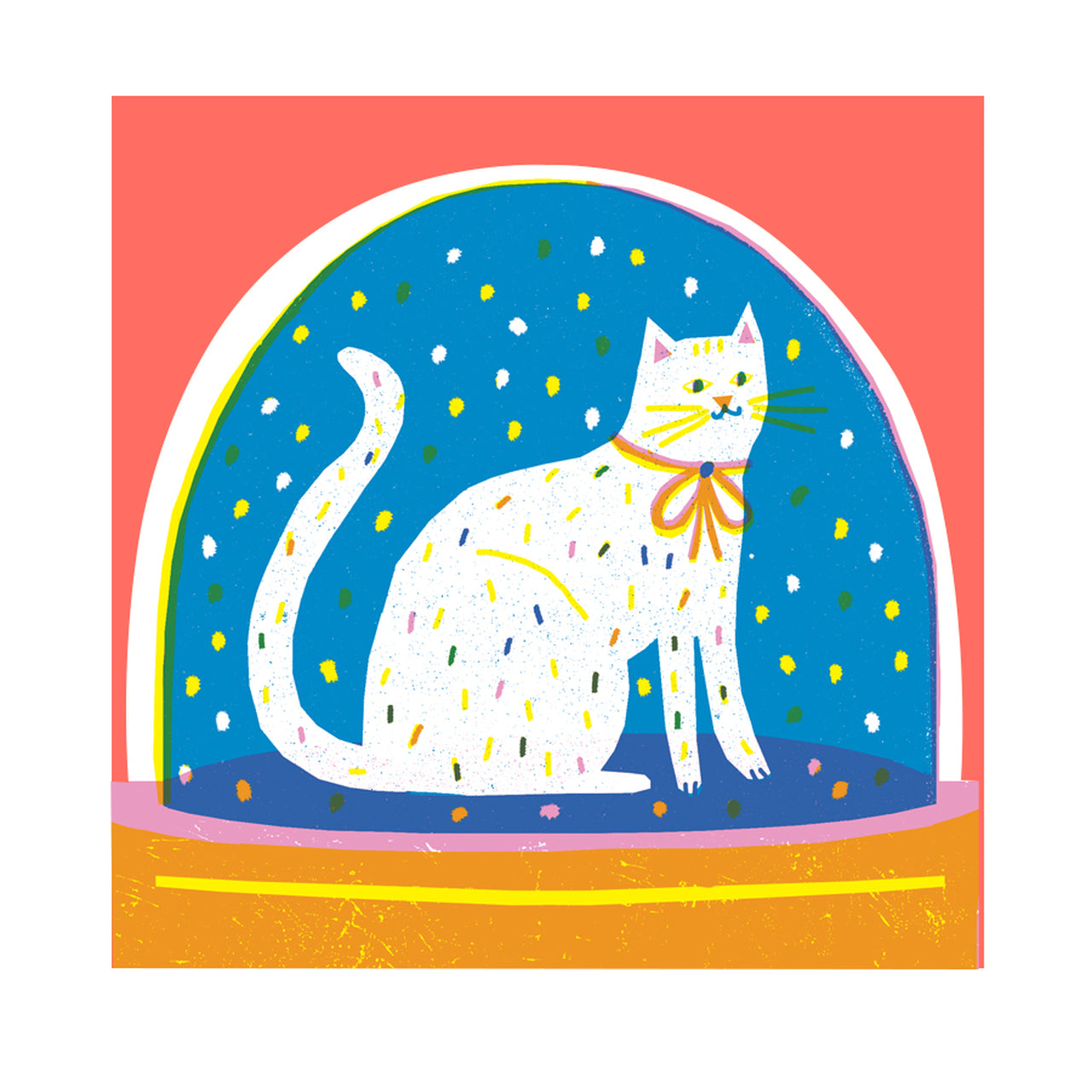 Cat Snowglobe Card