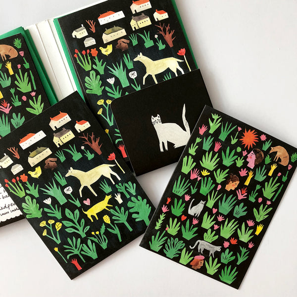 Collage Notecard Set - Black