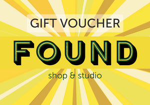 FOUND shop & studio gift card