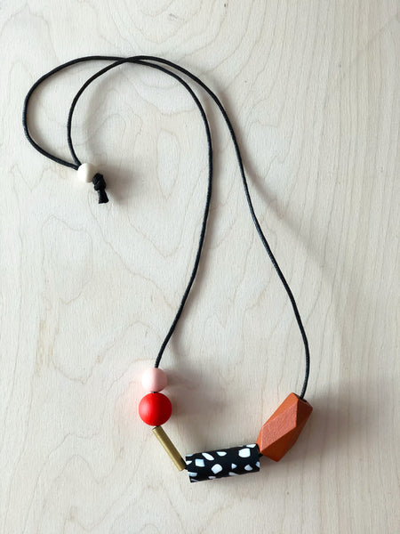 Shapes Necklace - Red