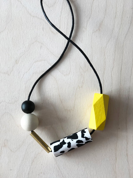 Shapes Necklace - Yellow