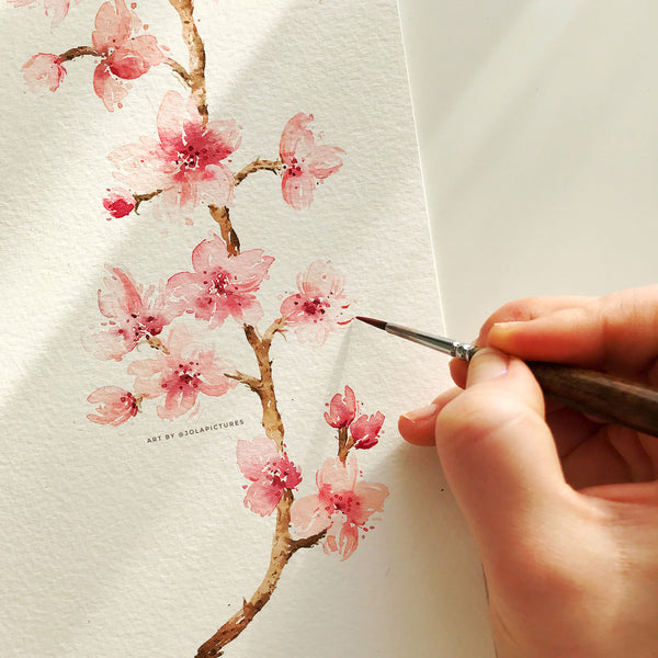 Cherry Blossoms - Watercolour Workshop on Zoom - Recording