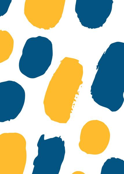 La Fuga Yellow/Blue - Wrapping Paper