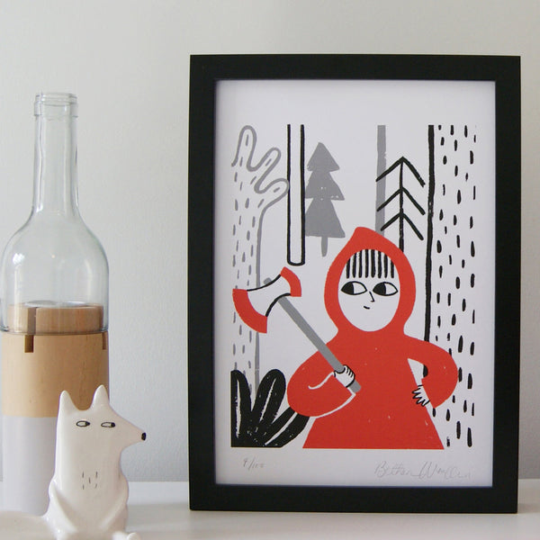 Little Red - A4 Print