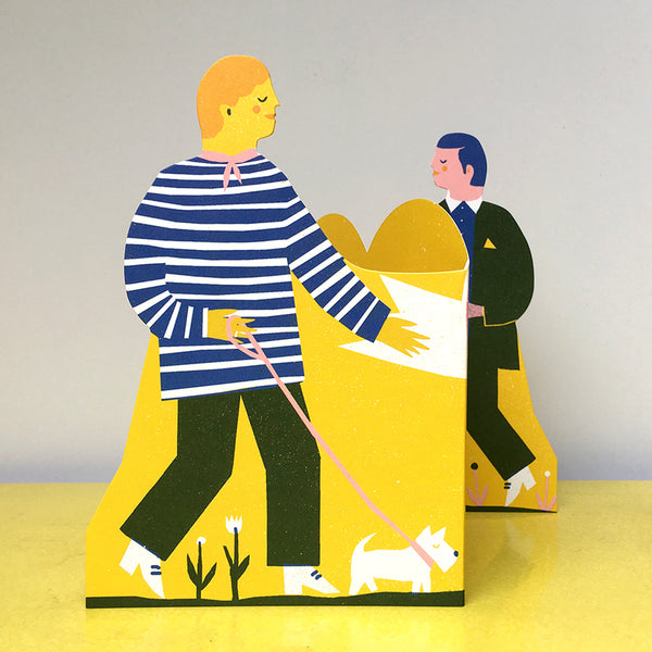 Concertina Couple Card - Men