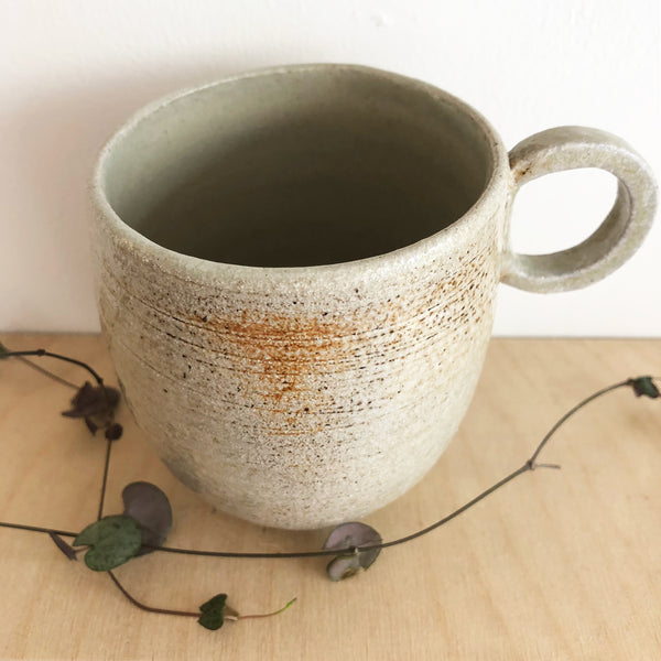 Cream Wood-Fired Stoneware Mug - Medium