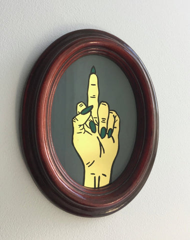 Middle Finger - Small Handpainted Sign