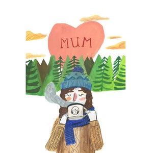 Mum with Cuppa - Card