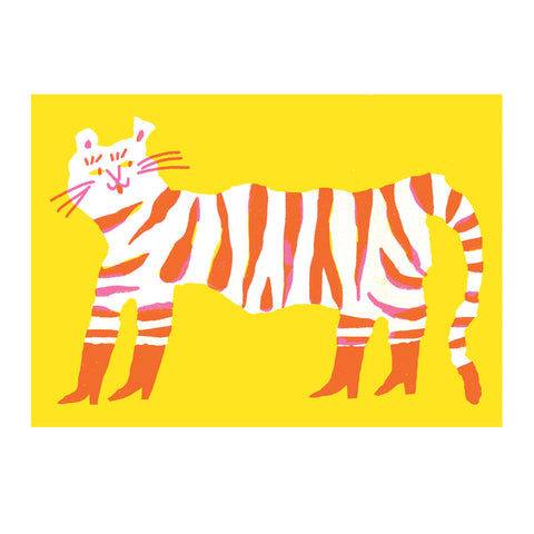 Tiger in Boots - A3 Print