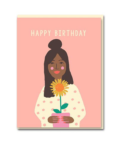 Sunflower Birthday Girl - Card