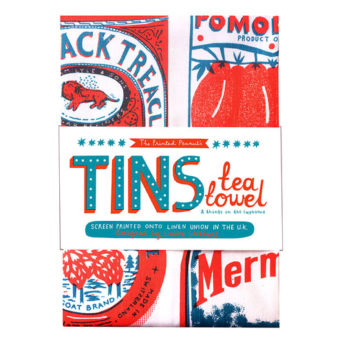 Tins - Tea Towel