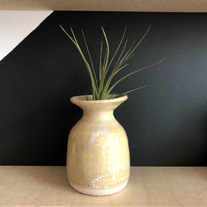 Fluted Bud Vase - Cream