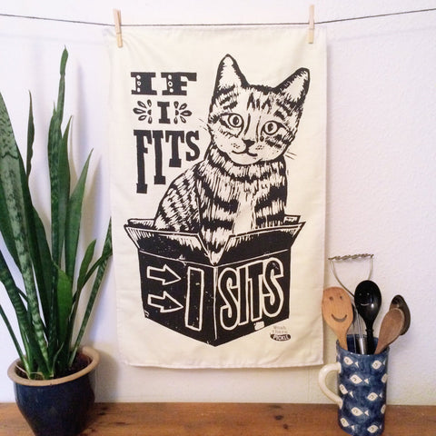 If I Fits I Sits - Tea Towel