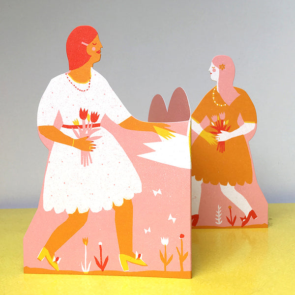 Concertina Couple Card - Women