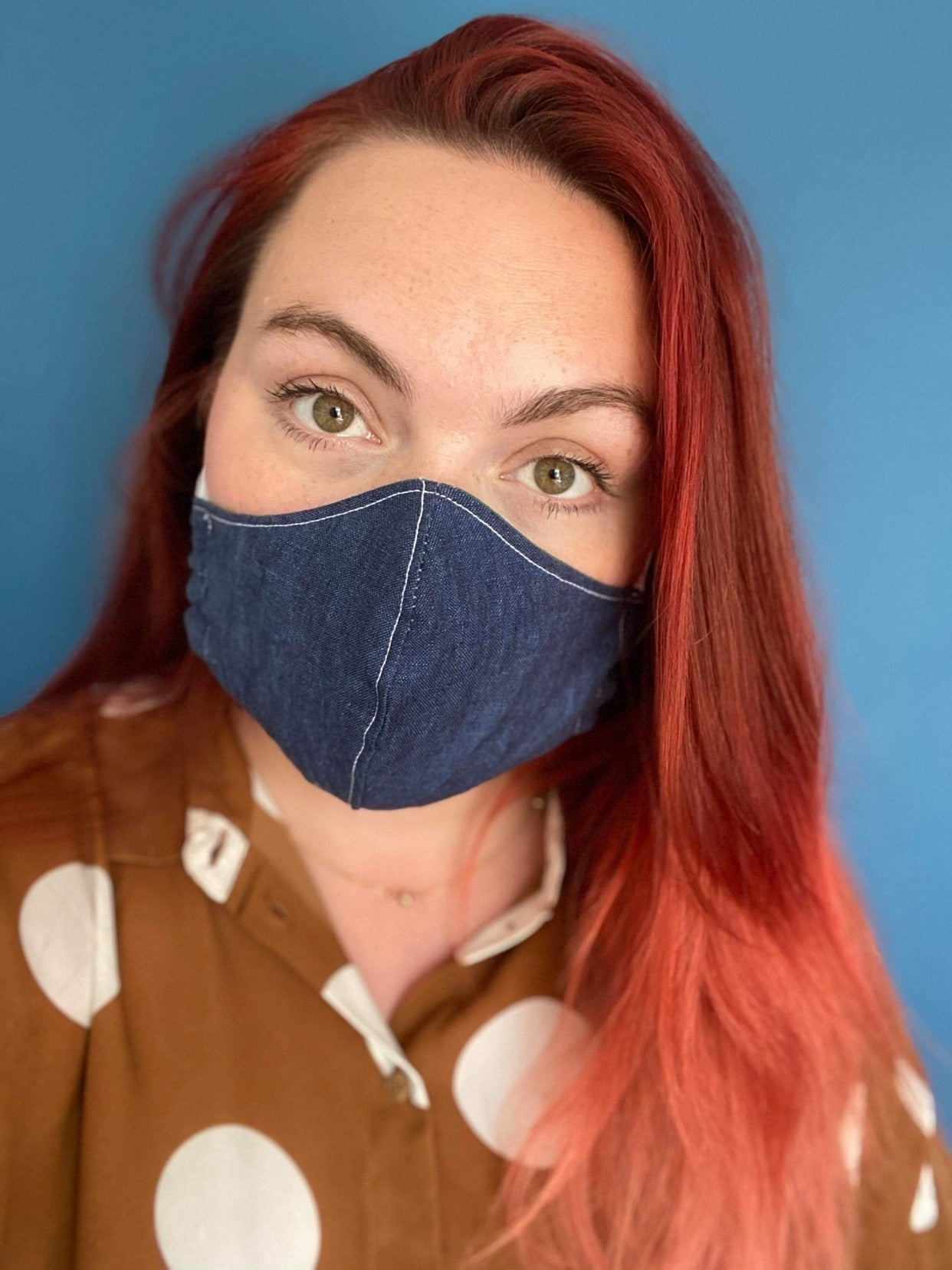 Blue Denim Face Mask