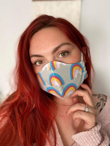 Rainbow Print Face Mask