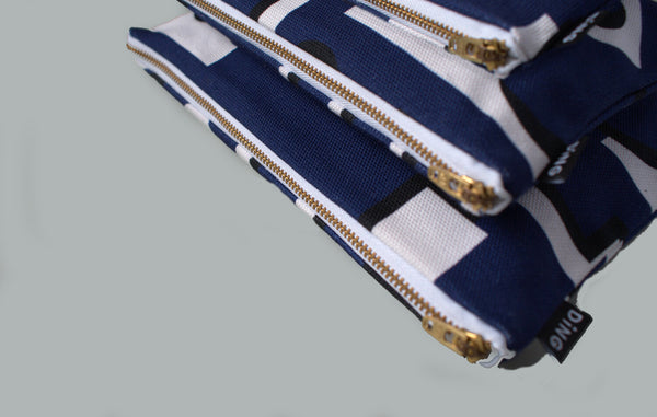 Medium Pouch with Zip - Factory (Navy)