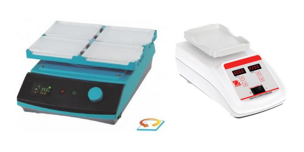 Microplate shaker examples.