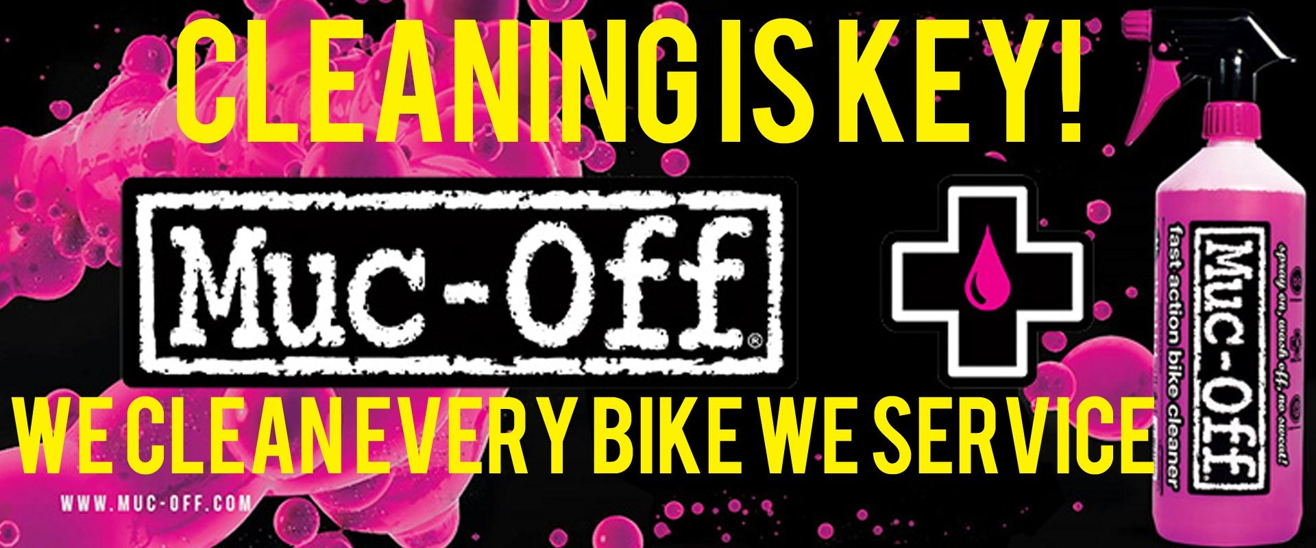 Muc off Lubricants and cleaners, buy online with free uk delivery on orders over £20 at Mobile Cycle Service