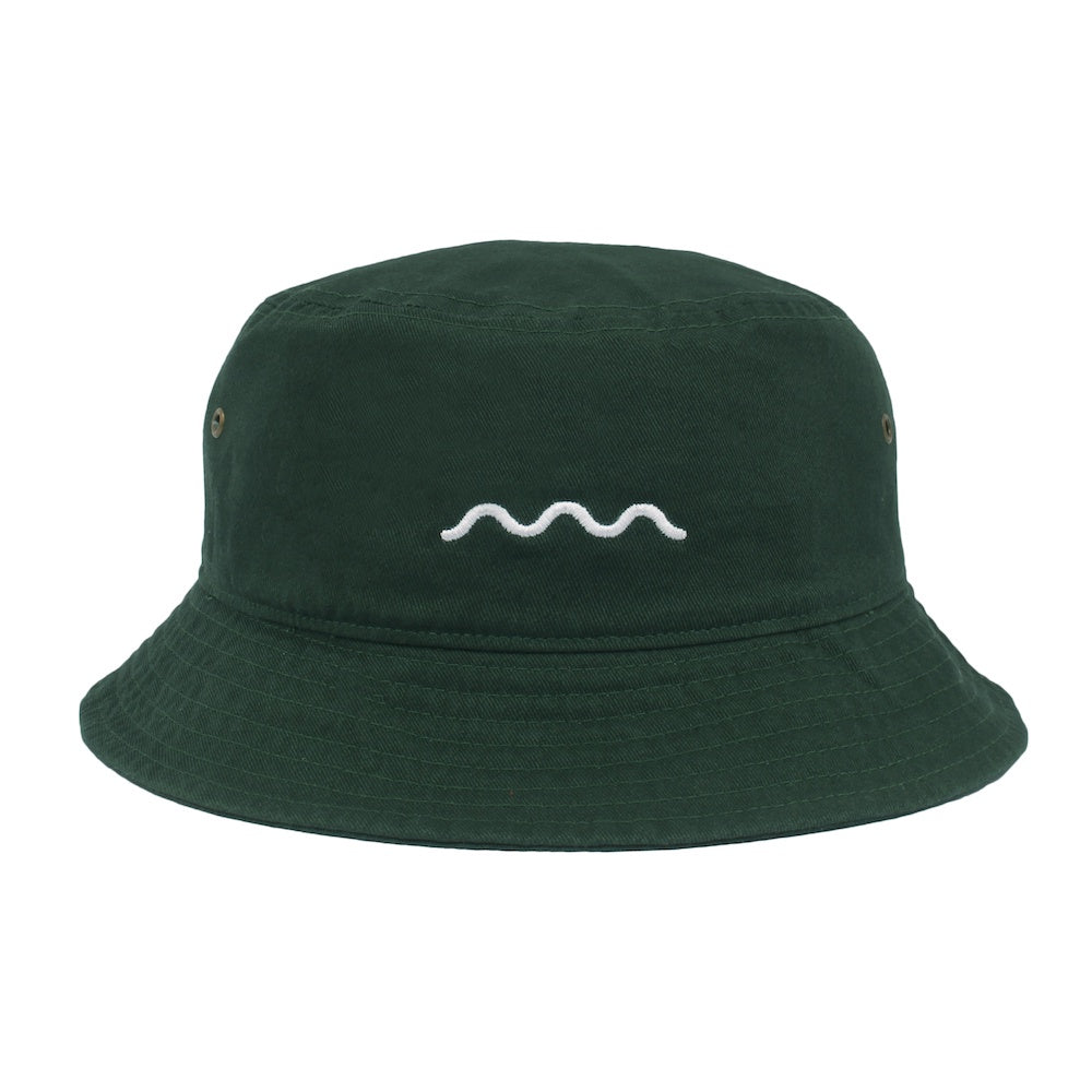 Chill Wave Bucket - Dark Green/White