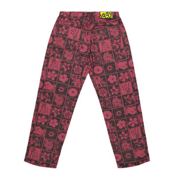 Flowers Jeans - Red/Black