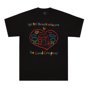 Welcome Tee - Black/Multicolour