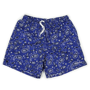 Paisley Swim Short - Blue