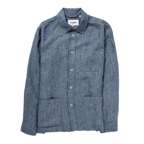 Ticking Stripe Linen Overshirt