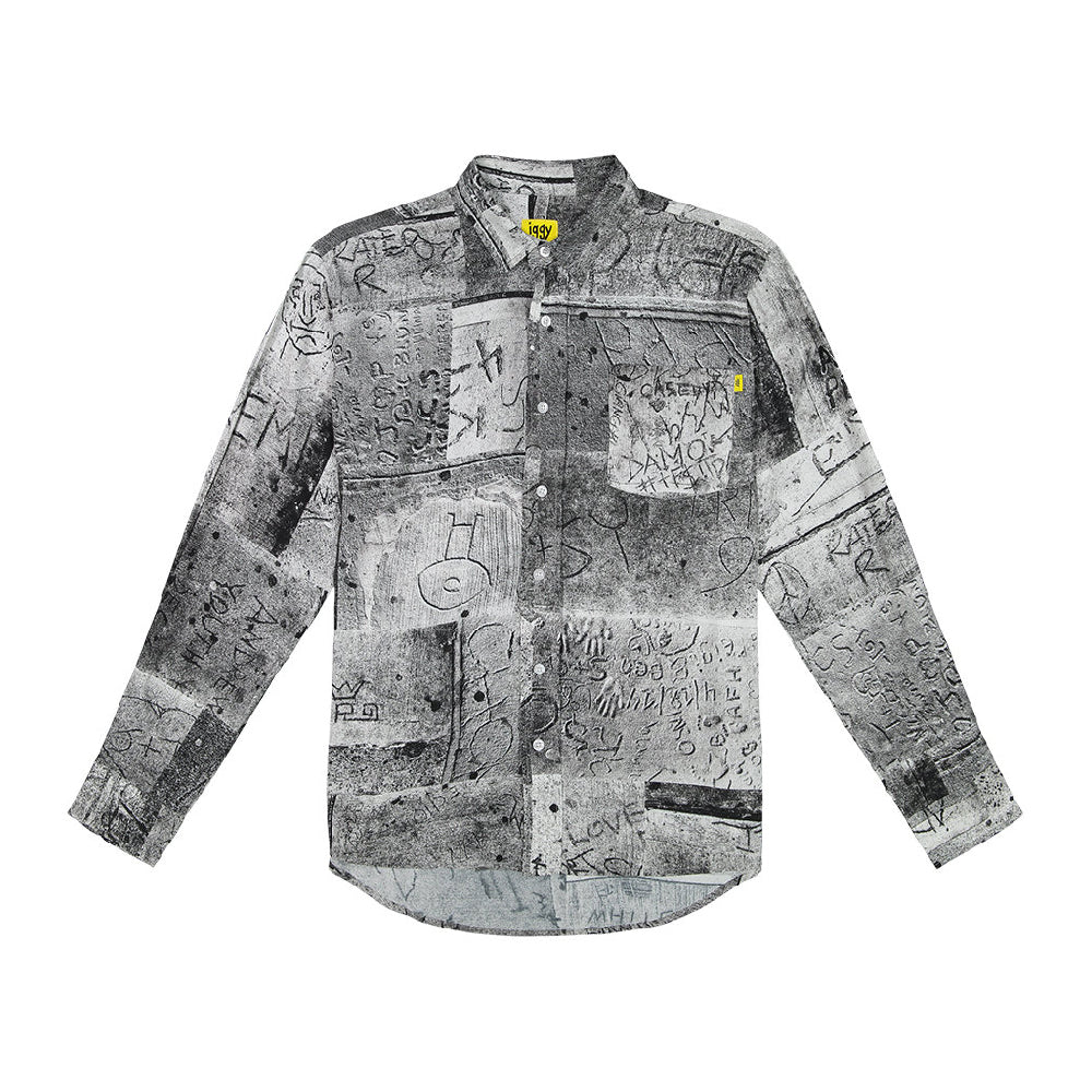 Wet Cement Button Down Shirt - Multi