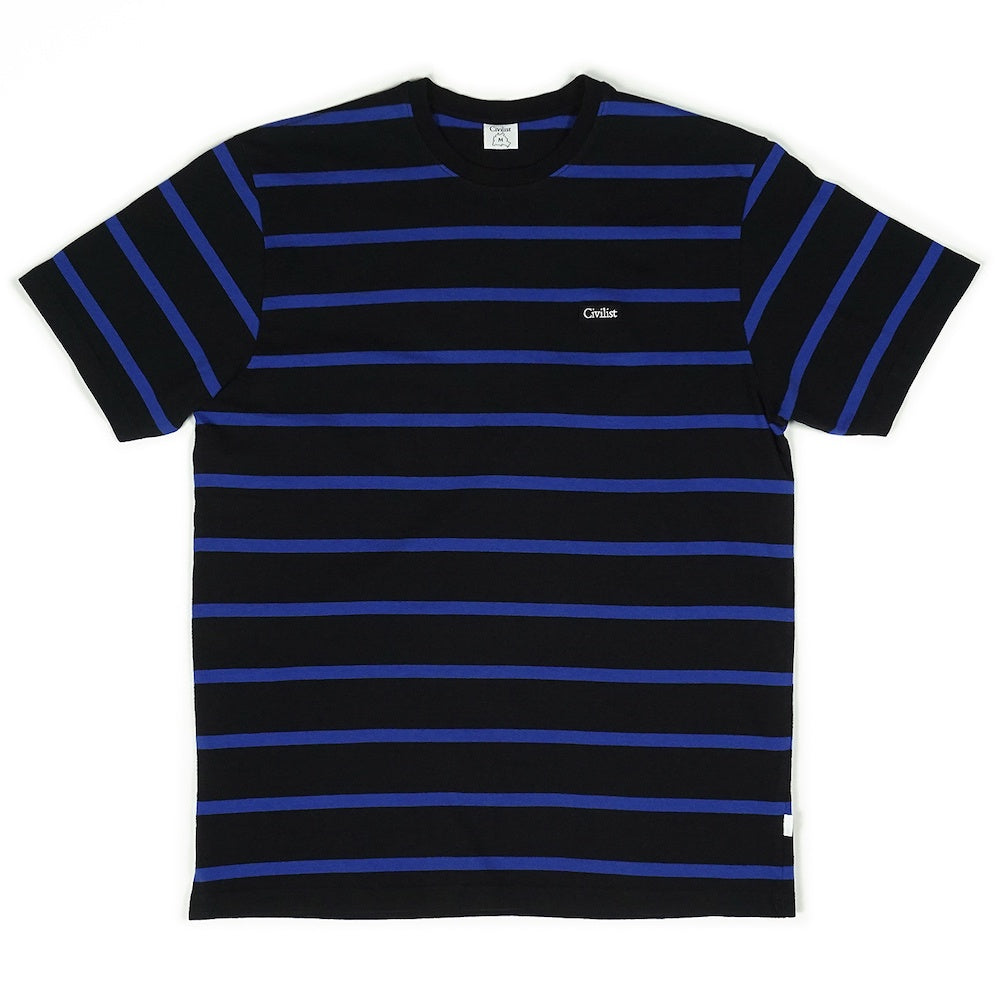 Striped Tee - Black/Blue