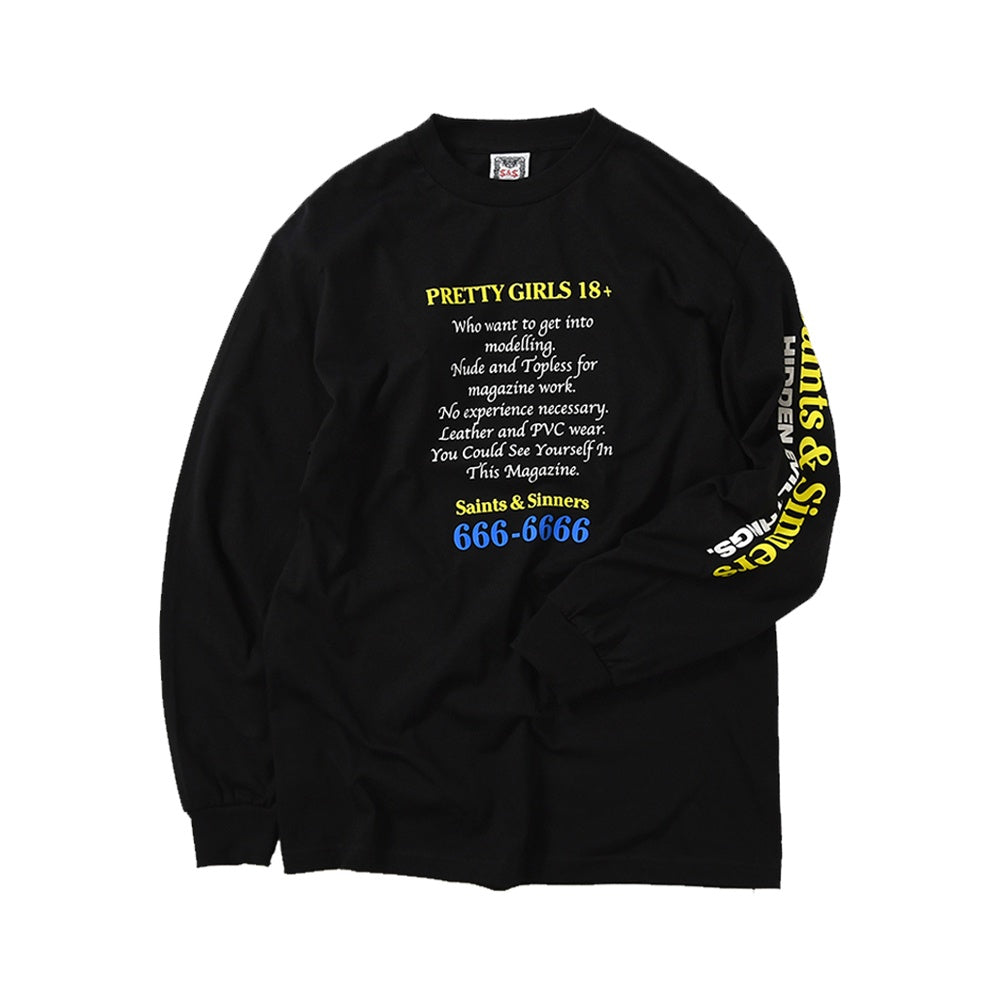 18 Or Older Long Sleeve Tee - Black