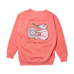 Animal Olympics Crew Neck - Washed Out Pink