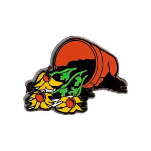 FLOWERS ARE DEAD LAPEL PIN
