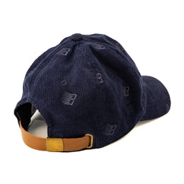 Allover Embroidered Cap - Navy