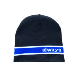Reversible Cut Off Beanie - Black / Blue